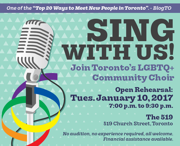 Sing with us! Open Rehearsal – Tues. January 10, 2017